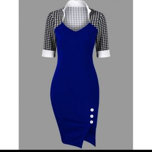 Dresses & Skirts - Checkered Top Fitted Dress